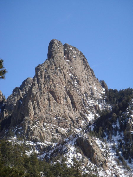 "A view of ""The Thumb"". From this angle, you can (sort of) see how the formation gets it's name."