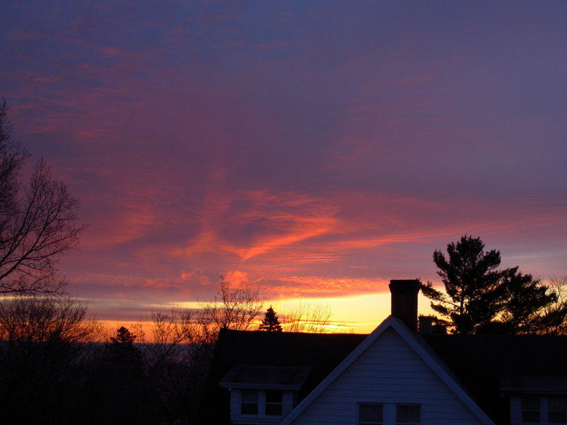 This is from my apartment window in Duluth, the morning of the trip.
