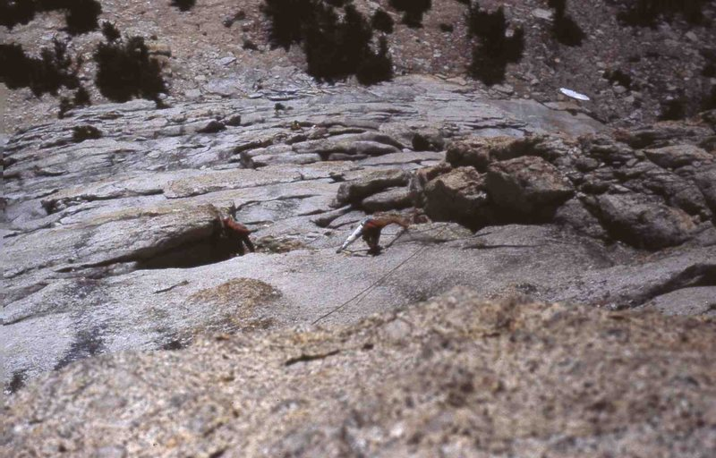 several parties on the SE buttress