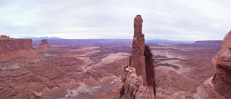 The classic view looking back toward the White Rim and Monster Tower from Washer Woman.
