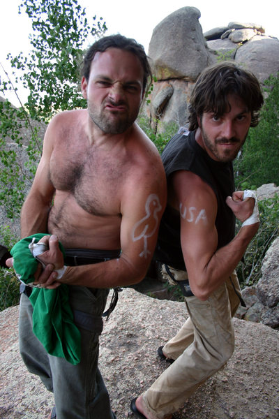 Mark and Keegan getting ready to send Friday the 13th. (July 17th, 2005)