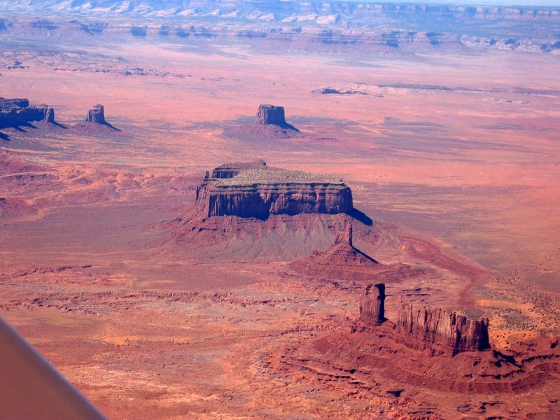 Monument Valley from above, April 2006.
