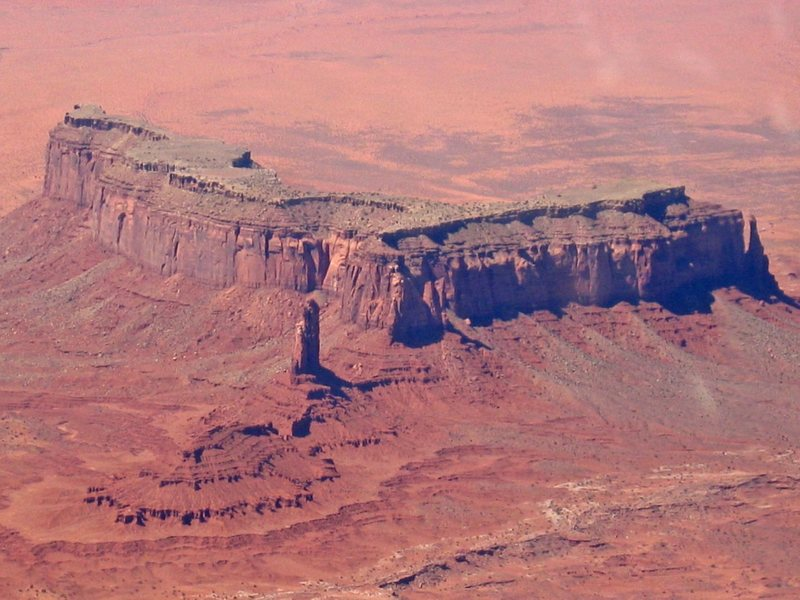 Bird's eye view of one corner of Monument Valley.