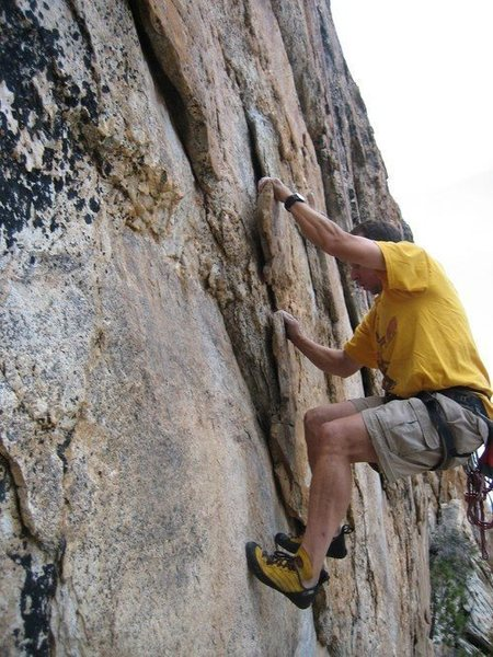 Here I am at the Rectory...on a Herb Laeger route, 5.10c