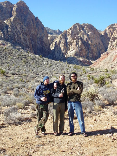 Mark, Chuck and Ryan after a winter attempt on Epinephrine.  January 2008.