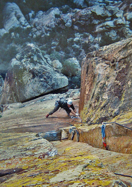 Getting worked at the top of the crux corner on Thanksgiving<br> <br> photo: Greg Jackson