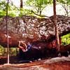 KK entering the crux on 'The Orb'<br> <br> (scan)