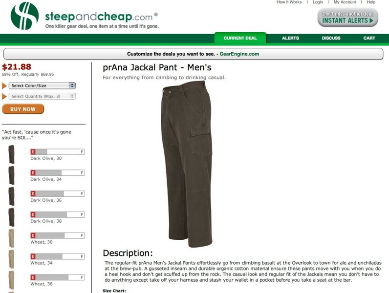 Saw this on steepandcheap.com, 2/25/08. I wonder who's writing their product descriptions?
