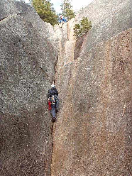 Climber on Davy Jone's Locker