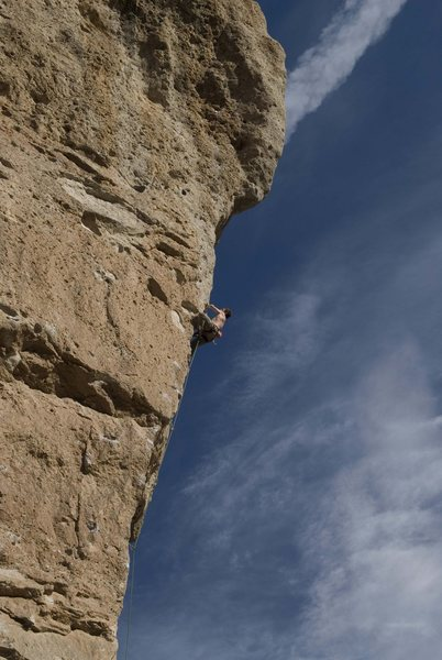 Going for the red-point on David (1st pitch of Goliath).<br> <br> Photo by [[105824164]].