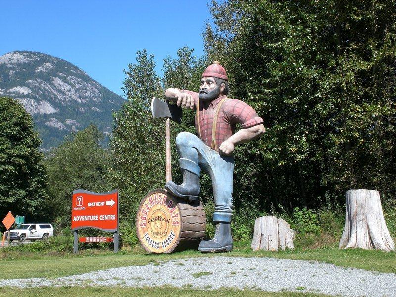 The Adventure Centre lumber jack!
