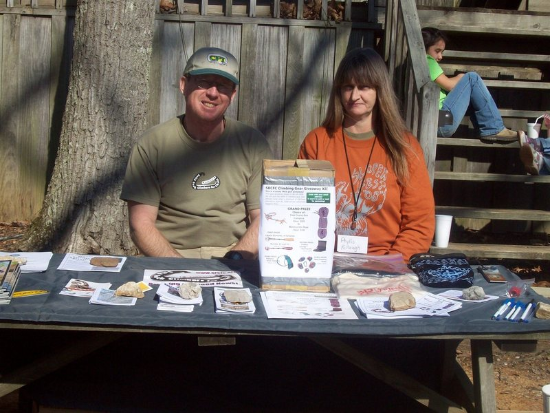 Me and my better half working the srcfc table at sloperfest!!