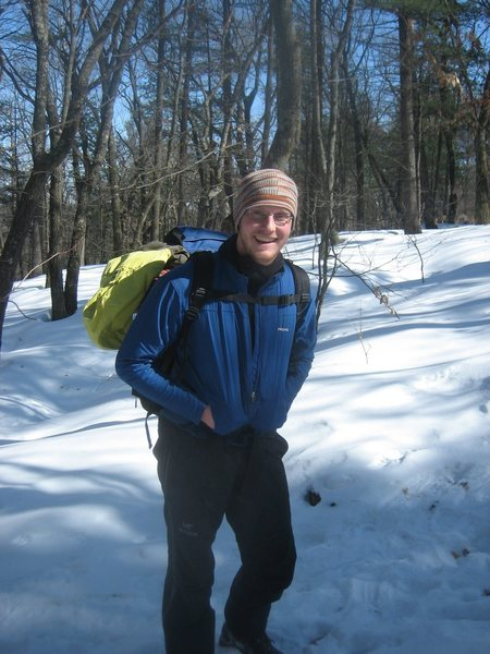 Mountain Projecter and Devils Lake Local James Schroeder on a winter training hike.