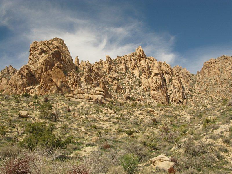 The rocks of Christmas Tree Pass