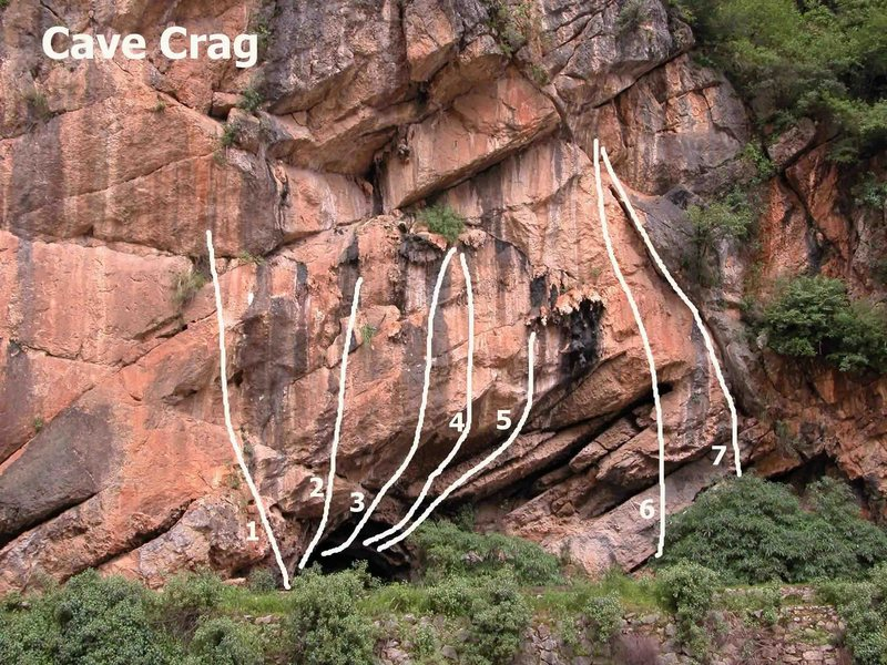 Cave Crag routes
