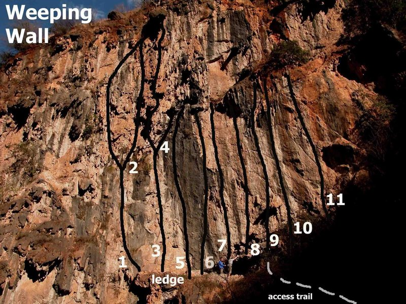 Weeping Wall routes