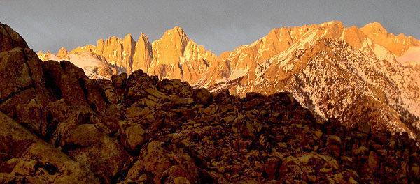 Mt. Whitney morning.<br> Photo by Blitzo.