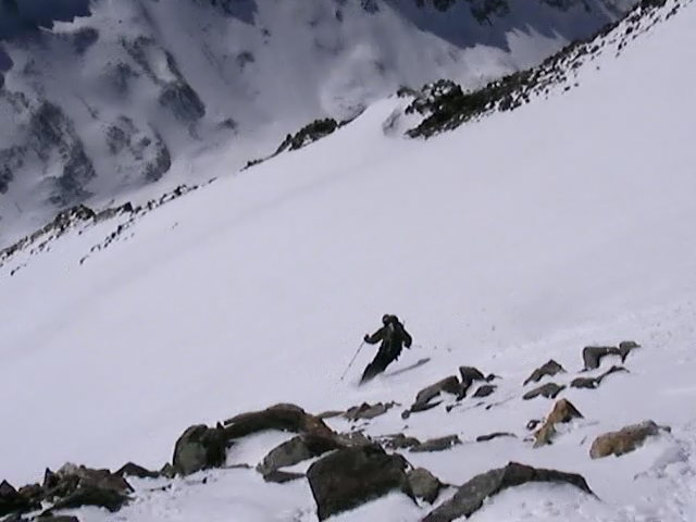 Skier: Austin Porzak Location: Cristo Couloir, Quandary Peak CO