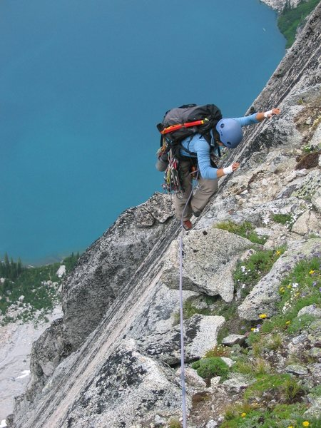 Shirley on the Fin high on Backbone Ridge (July 2006).