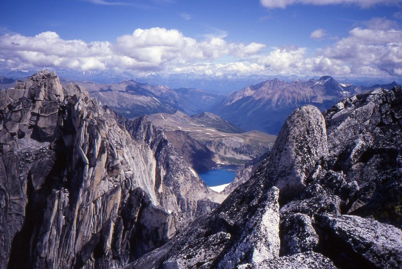 Looking east from near the summit of Bugaboo Spire.