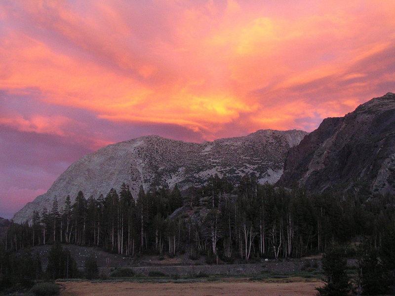 Tioga Pass sunset