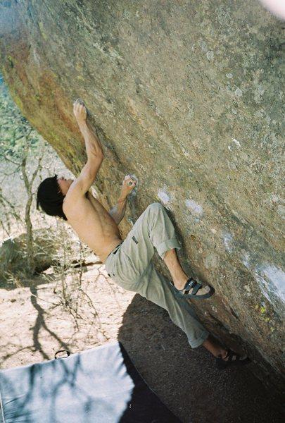 Austin Gieman on the Gusher.