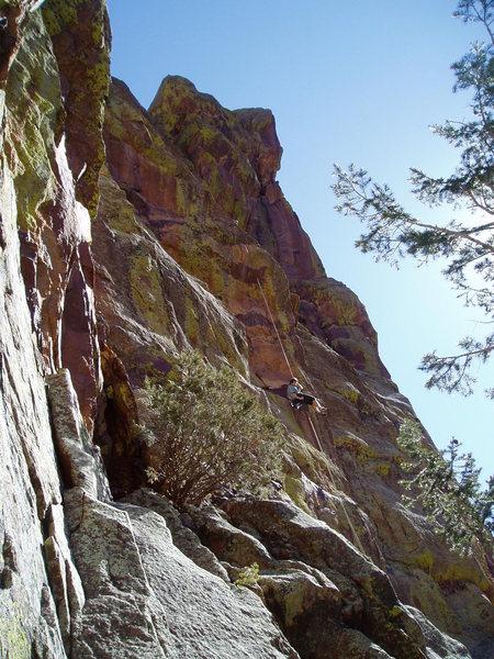 Vertigo rappel. Unknown climber.