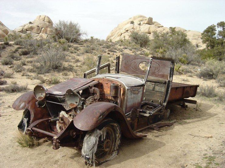 One of the many cool things about this park...  Maybe an early 30's pickup?  Anyone a car buff?