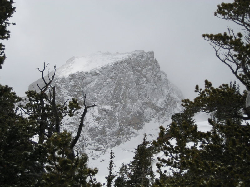 North Face of Hallet - Late March 2008