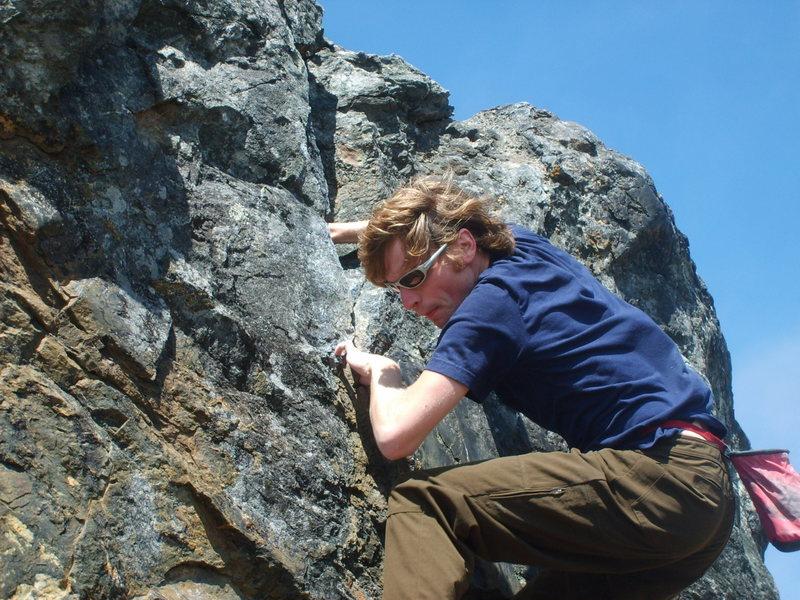 fun times at Sunset (Goat Rock) boulders, Sonoma coast.