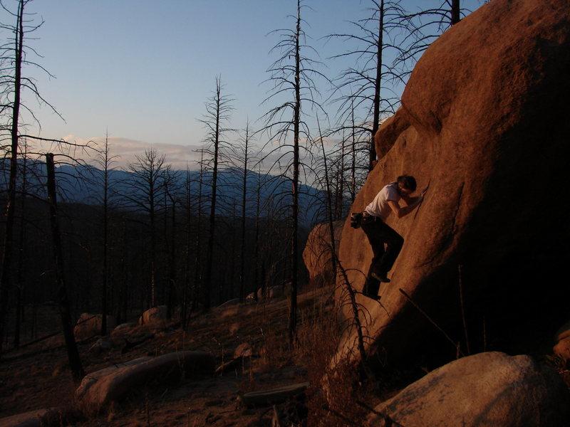 Andy Koken bouldering north of Sheep Nose.