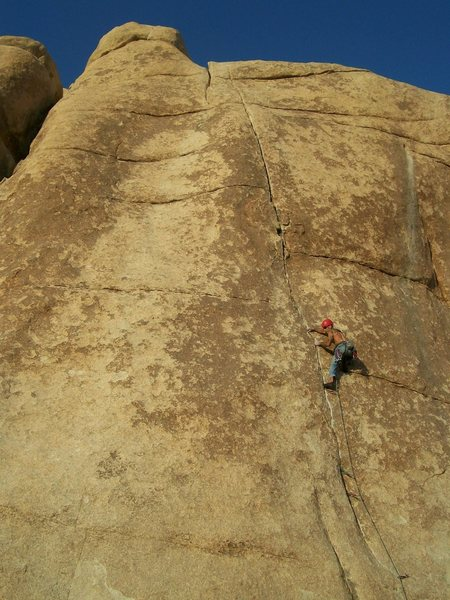 Pulling the move after the crux