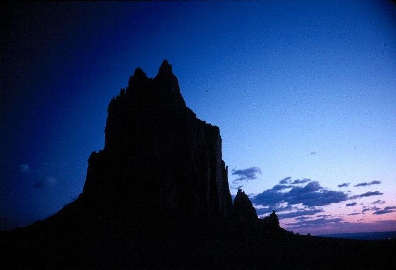 Shiprock at dawn.
