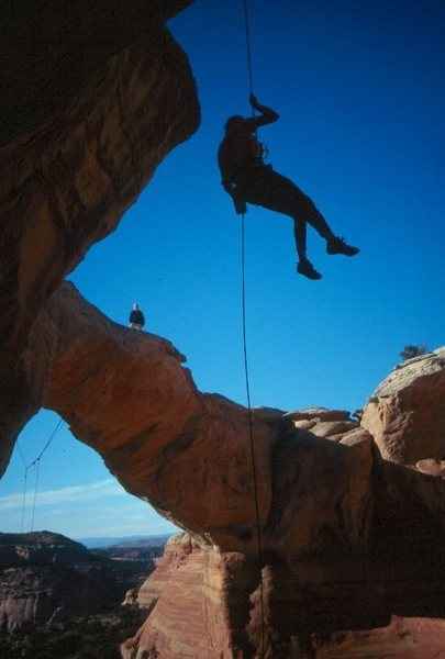 """Rapping down for the """"not your average rope swing"""""""