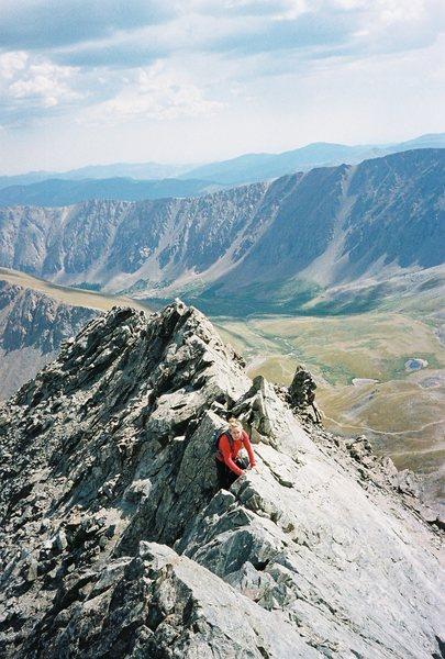 My first fourteener! Torrey's Peak.