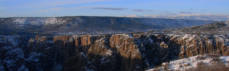 Winter in the black.  Taken from the south rim.
