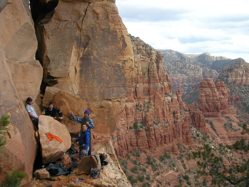 Upper Beach, Sedona. Mark Adams, Kevin Peterson, Seth Dyer, and James Q Martin. <br>