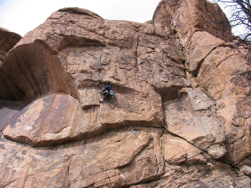 Kevin at the crux.