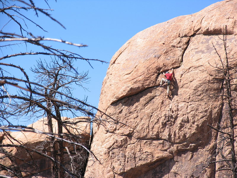 Kevin Stricker topping out on Altered State.