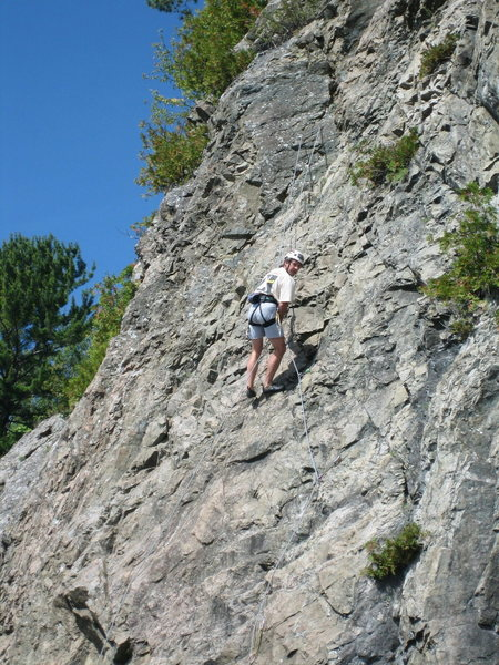 Me rapping off the route....