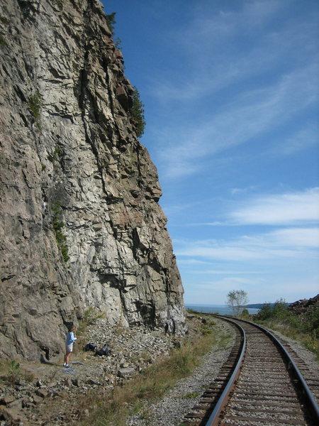 Ann at the crag...