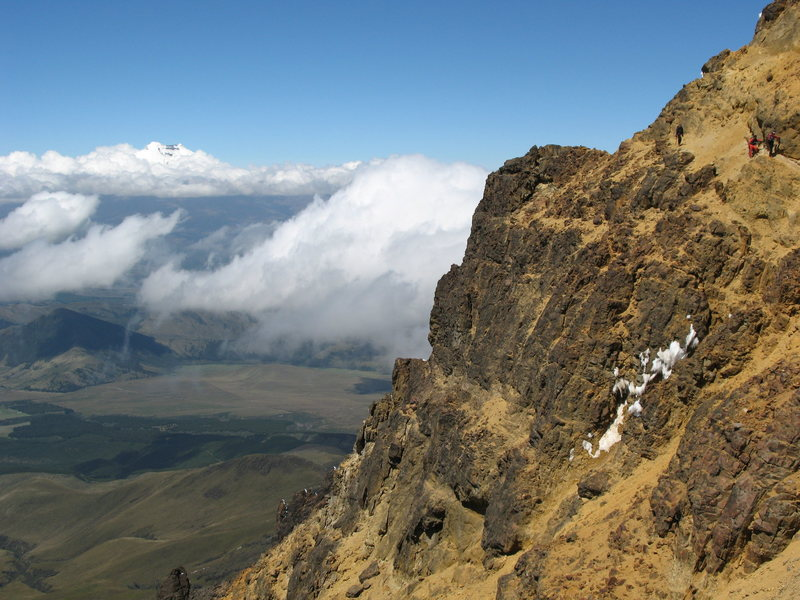 A larger view of the traverse showing Cotopaxi in the background.