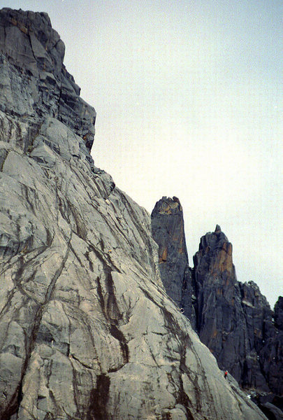 I'm in the pic on the lower right, belaying. Not sure where Benny is. Somewhere above...was sick as hell....