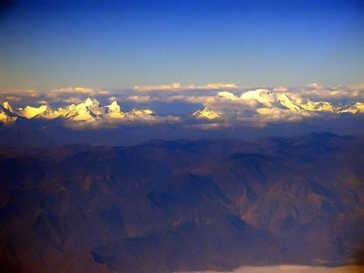 Huascaran and the Huandoys from 27,000 feet on the way to Lima.