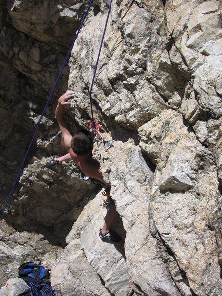 Working the moves on Magic Helmet,Rock Canyon Utah