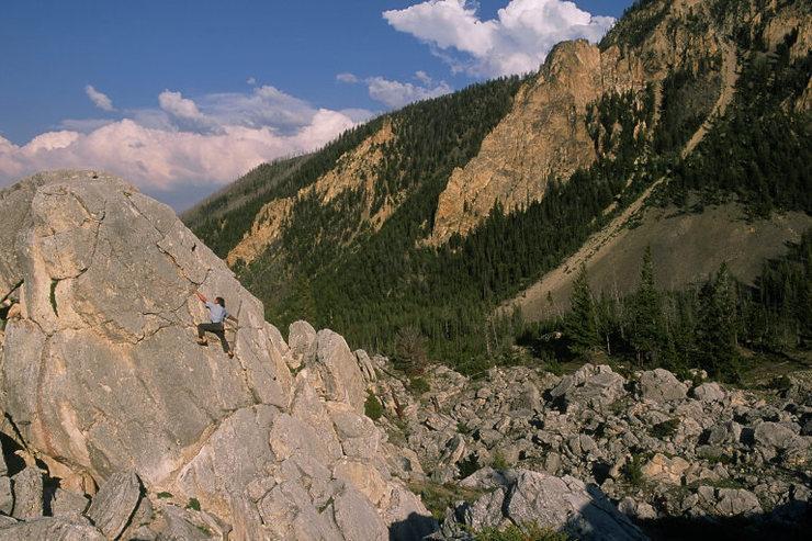 me bouldering in MT