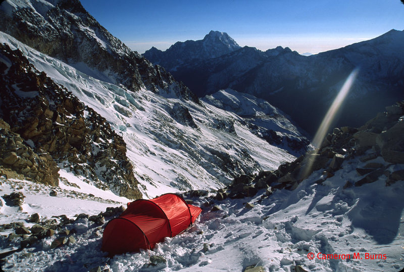 Camp at about 5300 meters on HP. pic by Cam Burns