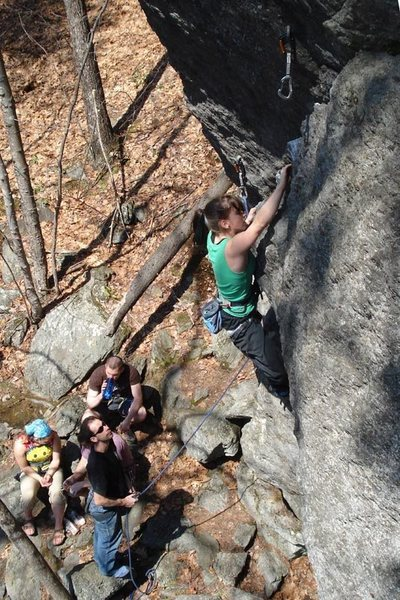 robin on the Angler... a really fun route...