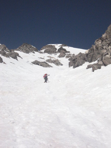 Me livin it up in the Dead Dog Couloir!