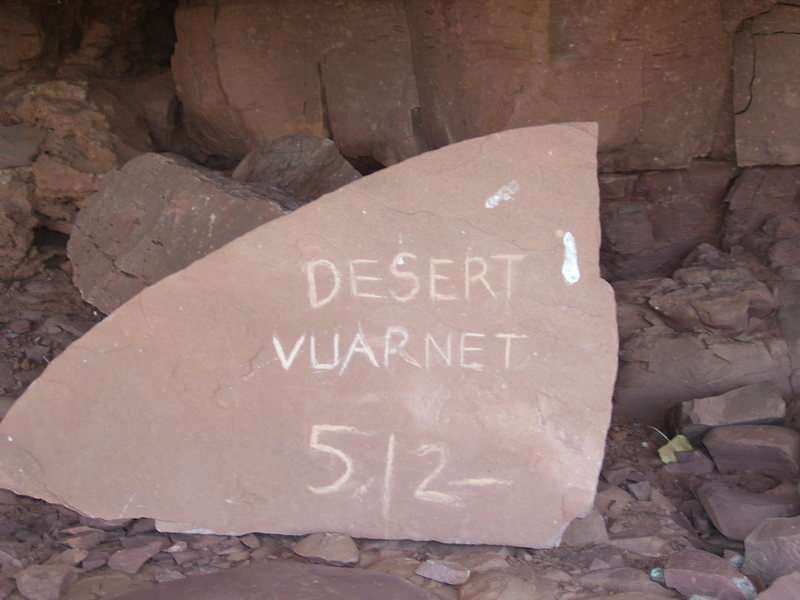 One of the few remaining sandstone plaques in the area.